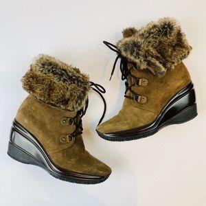 Aquatalia  'Brass' Waterproof Brown Suede Boots